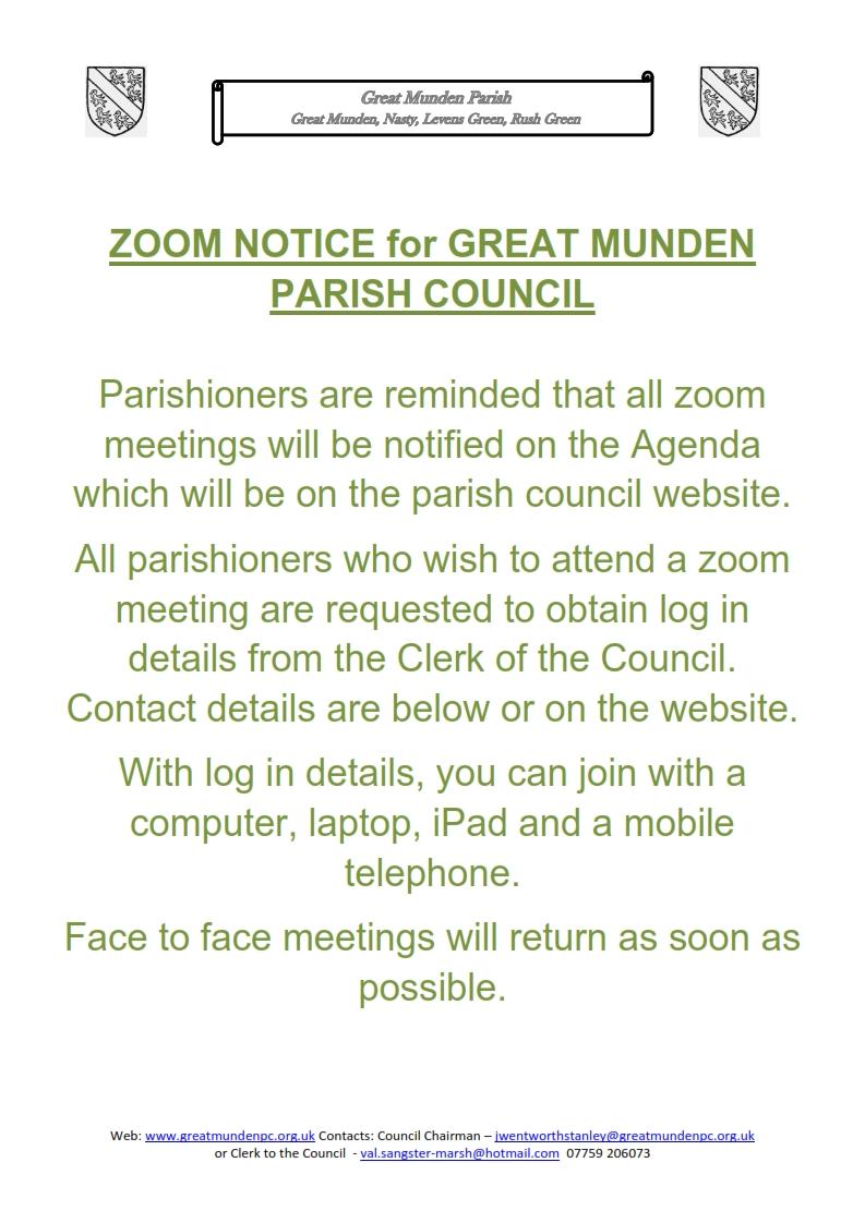 zoom meeting notice